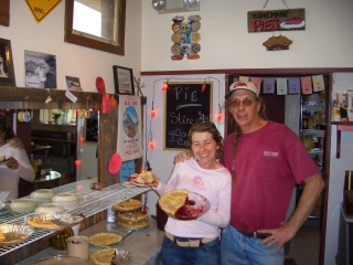 Pie-O-Neer Cafe owners Kathy and Stan